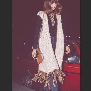 Free People Madeline Long Fringe Vest